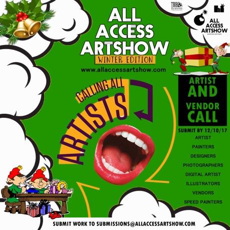 Artist Vendor Call Winter '17